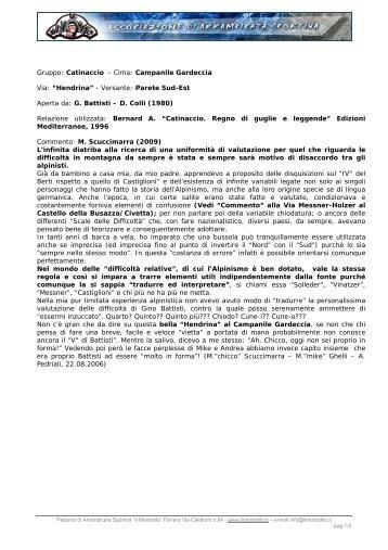 Gruppo: Catinaccio - Cima: Campanile Gardeccia Via ... - Il Monodito