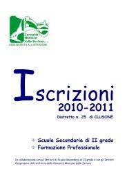 Indagine iscrizioni scolastiche a.s. 2010-2011 - Distretto n. 25