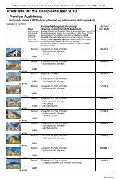 Preisliste für die Beispielhäuser 2013 - Ytong Bausatzhaus GmbH