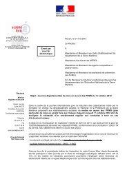 courrier envoyé en juin 2012 aux lycées et collèges - Risques ...