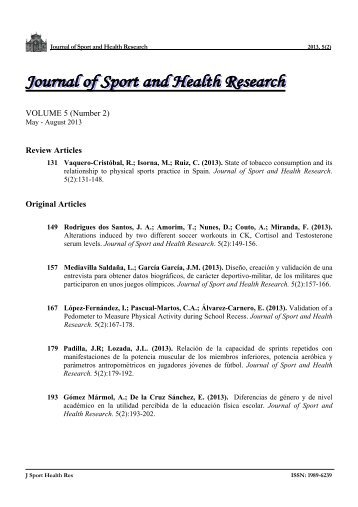 Download index - Journal of Sport and Health Research