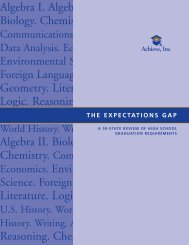 The Expectations Gap - Achieve