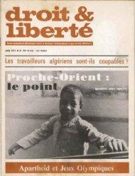 Apartheid et Jeux Olympiques - Archives du MRAP