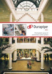 Durapipe ABS - Plastic Systems