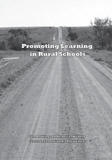 Promoting Learning in Rural Schools - Center on Innovation and ...