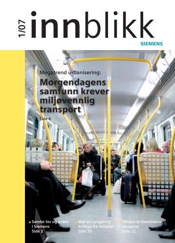 Morgendagens samfunn krever miljøvennlig transport - Siesenior.net