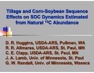 Tillage and Corn-Soybean Sequence Effects on SOC Dynamics ...