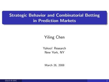 Strategic Behavior and Combinatorial Betting in Prediction Markets