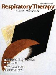 bilirubin/lactic acid testing co-oximetry blood gas - Respiratory ...