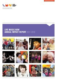 Live music now annuaL impact RepoRt 2011-2012
