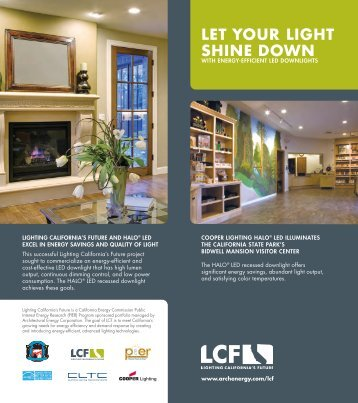 PIER Brochure for HALO LED Recessed Downlight - Architectural ...