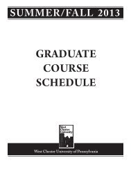 Summer/Fall 2013 schedule - West Chester University