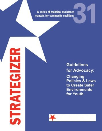Guidelines for Advocacy - Center on Alcohol Marketing and Youth