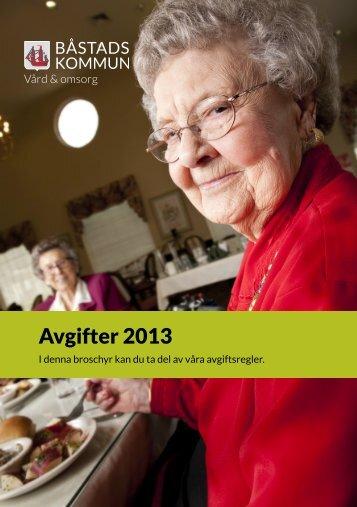 Broschyr Avgifter 2013 Vård och omsorg.pdf, 1 ... - Båstads kommun
