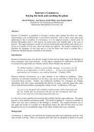 Internet e-Commerce: - School of Computing, Mathematics & Digital ...