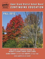 Continuing Education - Guelph Fall 2012 Guide - Upper Grand ...