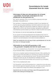 Garantiskjema for besøk Guarantee form for visits - UDI