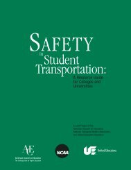 Safety in Student Transportation: A Resource Guide for ... - WorldCat