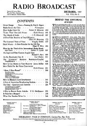 Radio Broadcast 1925 December 84 Pages Vacuumtubeera