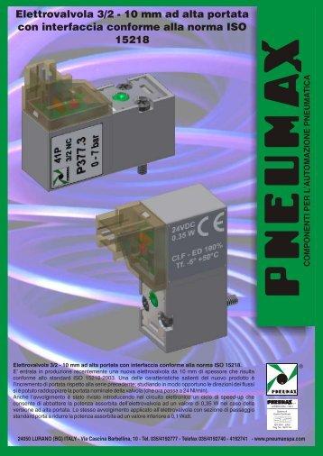 Elettrovalvola 3/2 - 10 mm ad alta portata con interfaccia ... - Pneumax