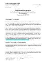 Aufgabenblock 4 - Institut für Wissenschaftliches Rechnen ...