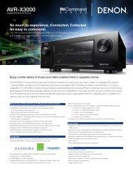 AVR-X3000 - Audio General Inc.