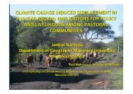 climate change induced displacement in the igad region