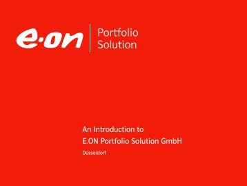 Our services - E.ON Portfolio Solution