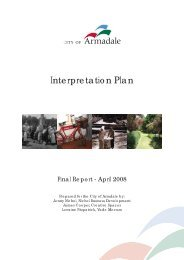 Museum Interpretation Plan and Style Guide 2008 - City of Armadale