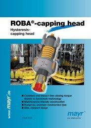 ROBA -capping head Hysteresis - Mayr