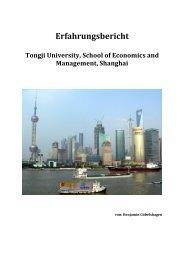 Auslandssemester an der Tongji University in Shanghai, WS 2012 ...