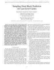 Sampling Dead Block Prediction for Last-Level Caches - TAMU ...