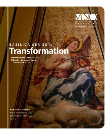 Transformation - Milwaukee Symphony Orchestra