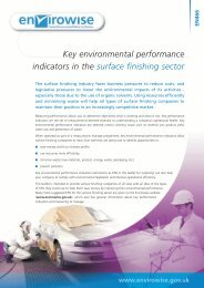 Key environmental performance indicators in the surface ... - Wrap