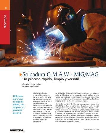Soldadura G.M.A.W - MIG/MAG - Revista Metal Actual