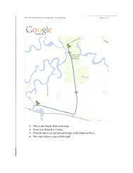 This is the Family Ride route map Point A to Point B is 3 miles Point ...