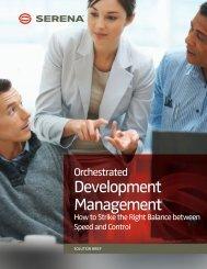 Orchestrated Development Management - Serena Software
