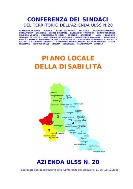 Piano Locale Area Servizi Sociali Ulss20 Verona Regione Veneto