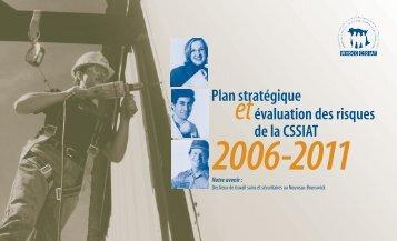 Plan stratégique et évaluation des risques - Travail sécuritaire NB
