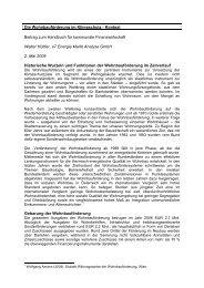 Wohnbauförderung und Klimaschutz - e7 - Energie Markt Analyse