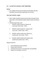1 4.0 ALATDAFTAR ANJAKAN ( SHIFT REGISTERS) Definisi • Satu ...