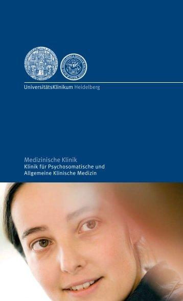 Medizinische Klinik - UniversitätsKlinikum Heidelberg
