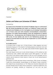 Zahlen und Fakten zum Schweizer ICT-Markt