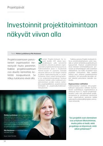 Artikkeliin - Projekti-Instituutti
