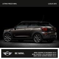 Listino prezzi mini. NOVEMBRE 2013 mini cooper / D ... - Mini.ch