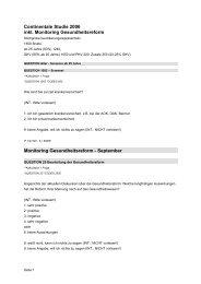 Fragebogen Continentale Studie 2006