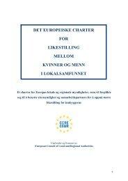 det europeiske charter for likestilling mellom kvinner og menn i ...