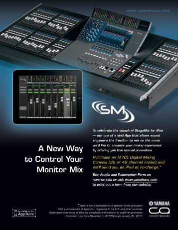 Download the form now. - Yamaha Commercial Audio