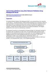 Jaarverslag palliatieve zorg 2012 Netwerk ... - Annevillegroep