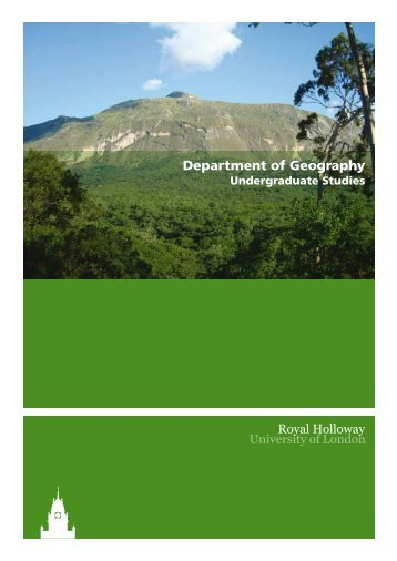 Department of Geography - Royal Holloway, University of London